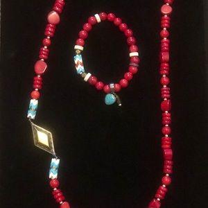 Silpada necklace and bracelet